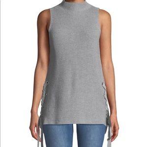 NWT MK women's size L Lace-Up sleeveless tuni